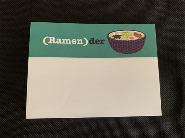(Ramen)der Post It Notes + Chopstick Pencil