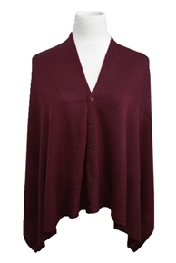 Multifaceted Scarf, Cardigan, Poncho, Vest - Maroon