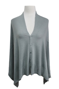 Multifaceted Scarf, Cardigan, Poncho, Vest - Gray