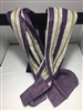 Japanese Purple Stripe Scarf