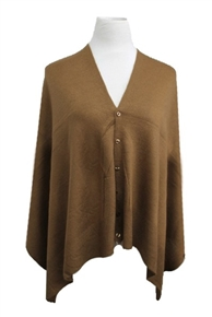 Multifaceted Scarf, Cardigan, Poncho, Vest - Brown