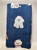 Japanese Inu Towel - Blue